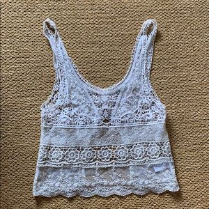 UO white lace top